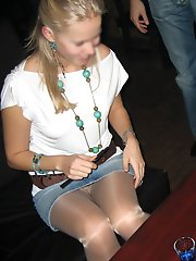 8 pictures - candid upskirt pantyhose galleries