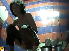 3 movies - Hot clips from spy camera planted in toilet
