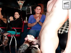 3 movies - Wild horny girls take turns sucking these stripper cocks!