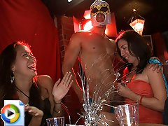 3 movies - wild party girl gets horny and plays with herself for the camera.