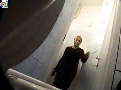 3 movies - Voyeur spies after pissing women in supermarket toilet