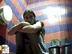3 movies - Juicy big-ass girls get spied after in the toilet