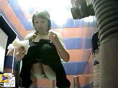 3 movies - Watch girls pee and wipe slits in spycammed toilet