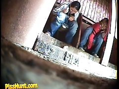 14 pictures - Two young chicks get unlucky to pee in spycammed loo