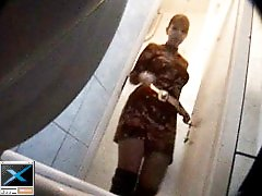 3 movies - Three babes get filmed weeing in spycammed toilet