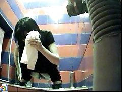 3 movies - Feeds from spy cam hidden in ladies' room in mall
