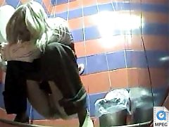 3 movies - Video feeds from spy cam hidden in ladies room